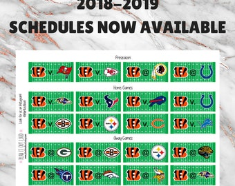 2018 Football Schedule Stickers- All teams! (planner stickers)