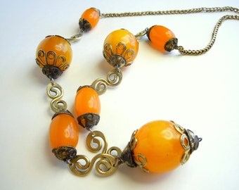 Marilyn's vintage amber necklace