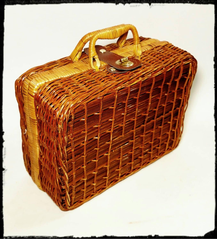 Vintage Picnic Basket/Children's Picnic Basket/Miniature ...