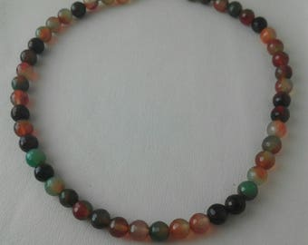 Natural faceted tourmaline necklace