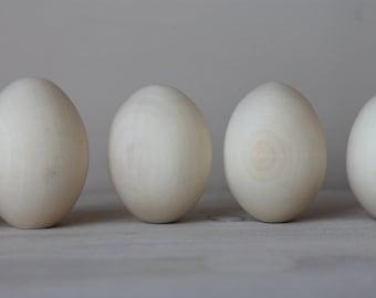 "10 Wooden eggs 2.36"" (6 cm)"
