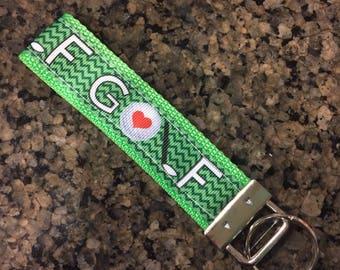 Key Fob Wristlet Keychain/Golf