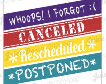 Set of 32 Assorted Canceled Stickers for Various Planners, Calendars, Journals