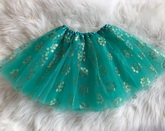 Green 4 Hearts Hmong Tutu Skirt