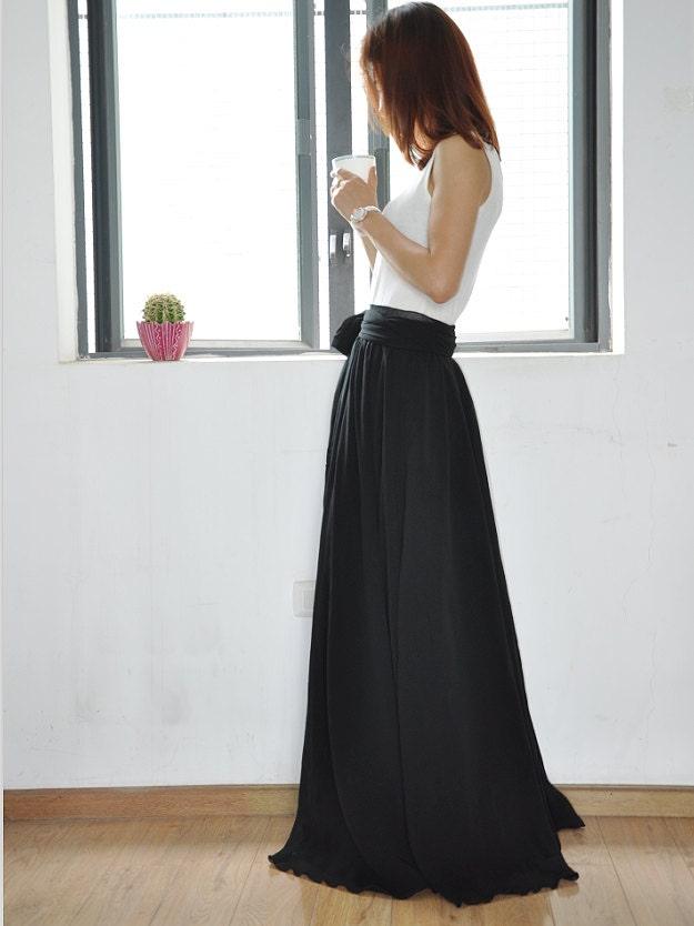 Black Floor Length Skirt
