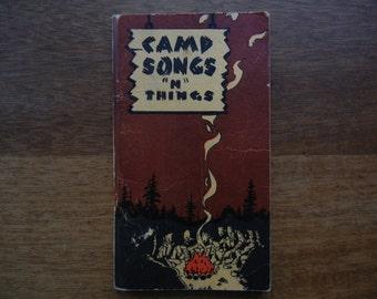 """Pocket Book of Campfire Songs """"N"""" Things ~ 1939"""
