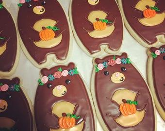 Fall bear cookies