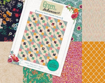 Green In Between Featuring Priority Square Premium Quilt Cotton by Katy Jones for Art Gallery Fabrics - FREE SHIPPING