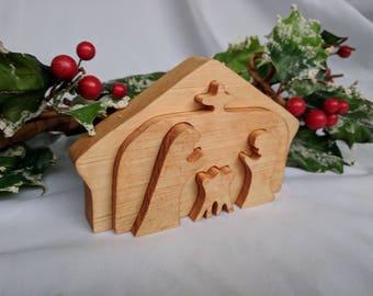 Wooden 3D Nativity Set