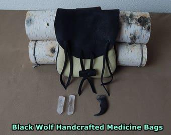 Medicine Bag, Medicine Pouch, Deerskin Medicine Bag  Leather crystal pouch, Leather amulet bag, Deerskin Leather Pouch, Leather Bag