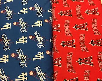 Angels OR Dodgers  Print Lovey Baby Lap Blanket