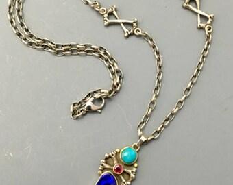 Blue Bones Necklace