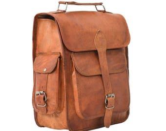 Gusti Leder 'Eleanor' Genuine Leather Backpack