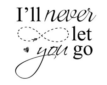 Instant Download Love Word Art Overlay Never Let You Go