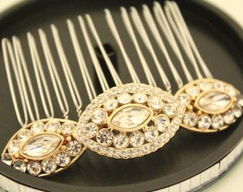 Bridal hair comb Gold Vintage Wedding hair accessories,Wedding hair comb,Bridal hair accessories,Wedding headpiece,Bridal hair jewelry clip