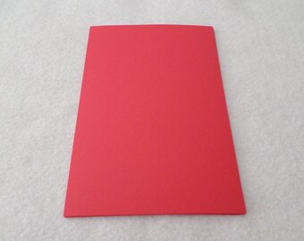 8 Mini sheets of cardstock, red