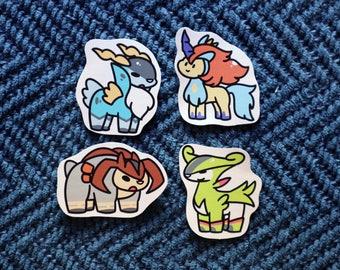 Pokemon Swords of Justice Sticker Set, Choose from 4 Designs or Pick Whole Set Cobalion Terrakion Keldeo Virizion // 200GSM Acid Free