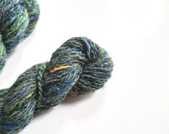 "Handspun Wool Blended Yarn: ""Canary Springs"""