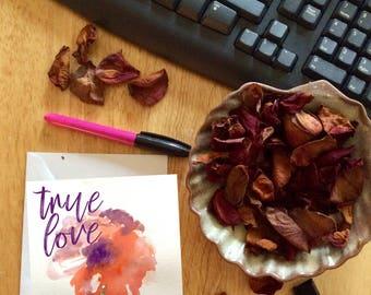 true love valentine card, poppy love greeting card, love and flowers, true love printable, DIY instant download, red poppy flower,