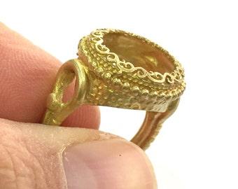 Raw Brass Adjustable Ring Blank (14mm Blank) G3279