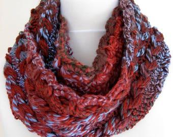 Handmade hairpin lace crochet cowl/neckwarmer/scarf - scarf, neckwarmer, cowl - accessory