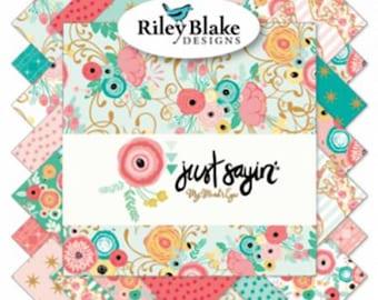 Just Sayin  Riley Blake charm pack