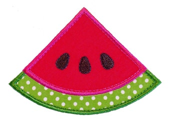 """Watermelon Wedge Machine Embroidery Designs Applique Patterns in 4 sizes 3"""", 4"""", 5"""" and 6"""""""