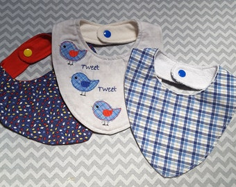 Baby Bib Embroidery Hoop  Bandana Style Infant 12months