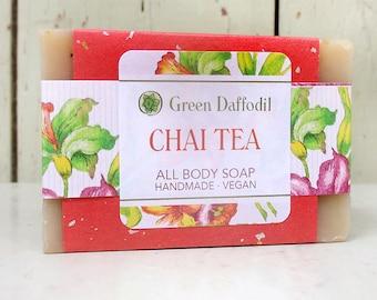 Chai Tea Bar of Soap - Green Daffodil