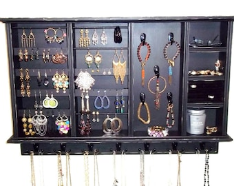 Rustic Jewelry Display Hanging Jewelry Organizer Rustic