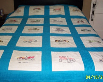 Handquilted Queen size quilt