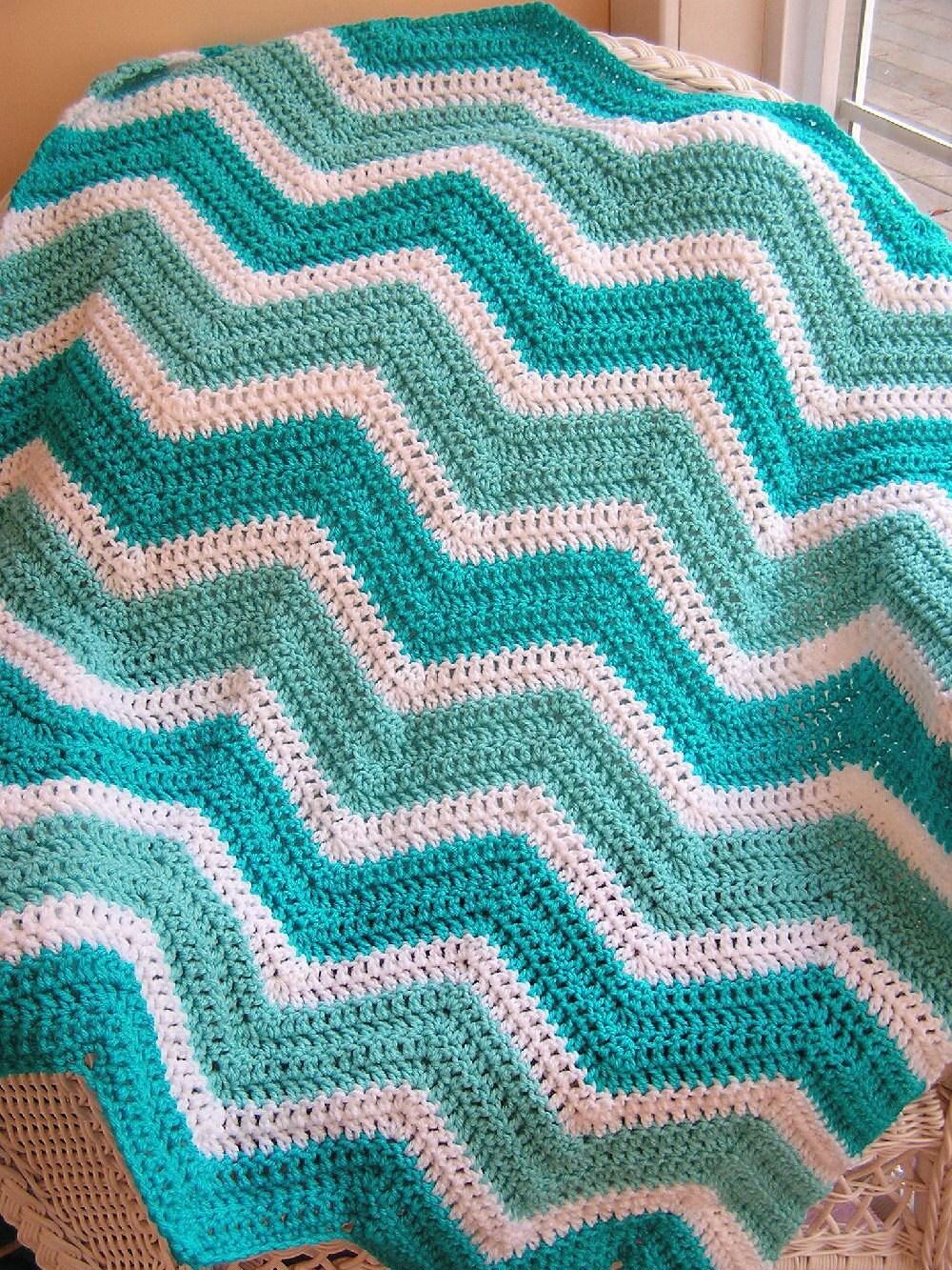 Lujo Zig Patrón Afghan Crochet Zag Ideas - Manta de Tejer Patrón de ...