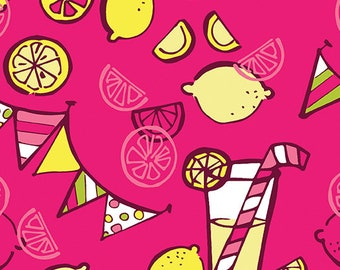 Lemon Squeezy - 1480-22 Lemonade Hot Pink - by Holly Helgeson from Contempo for Benartex