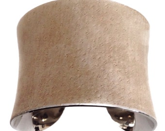 Soft Tan Suede Leather Cuff Bracelet - by UNEARTHED