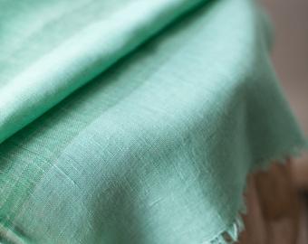 Linen Scarf / Mint Colour/ Unisex Scarf