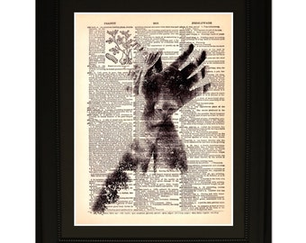 "Illusion"".Dictionary Art Print. Vintage Upcycled Antique Book Page. Fits 8""x10"" frame"