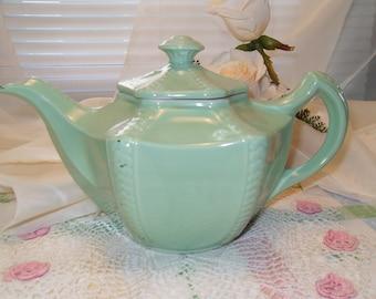 Hall Victorian Connie Teapot Green Teapot