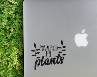 Powered By Plants                  , Laptop Stickers, Laptop Decal, Macbook Decal, Car Decal, Vinyl Decal