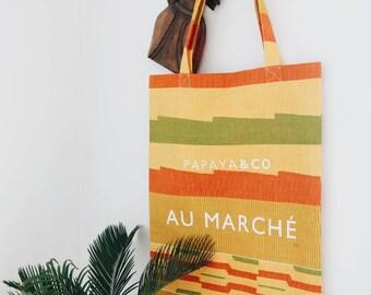 African Wax Print Tote Bag / African Wax Print Market Bag / Ankara Tote Bag / Ankara Market Bag - PAPAYA & CO