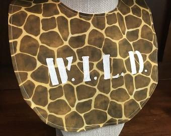 Animal Print Wild Bib