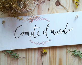 Wood home Wall lettering boho chic – wooden home decoration