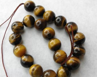 50 8 mmnaturel 8 mm round Brown Tiger eye