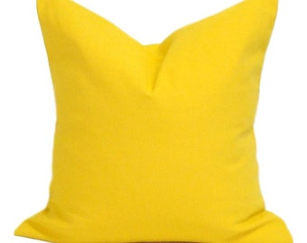 Solid Yellow Pillow, Yellow Pillows, Yellow Pillow Cover, Decorative Pillow,  Solid Yellow