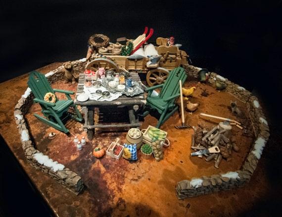 Fabulous Miniature Tabletop Display for the Thanksgiving or Christmas Holiday Season