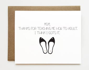 Funny mother's day card, Mother's day card, Cheeky Mothers day card, Cute mother's day card, Awesome mom card, Growing up card, Card for mom