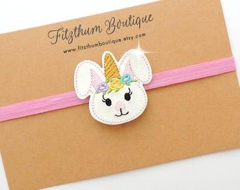 Easter infant headband - Bunny ears headband - 1st Easter headband - Easter newborn headband- Easter infant headband for babies