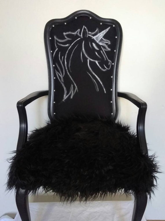 Gothic Unicorn Accent Chair