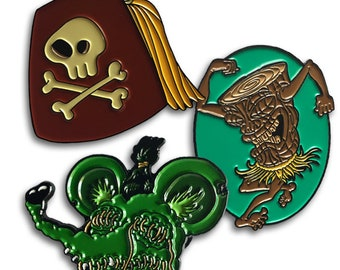 Collectors Enamel Pin Staggeringly Awesome Combo Three Pack!
