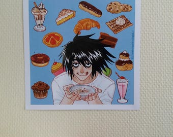 L from Death Note - Print / Impression - 20,7 x 21 cm