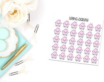 Kawaii Rent Planner Stickers